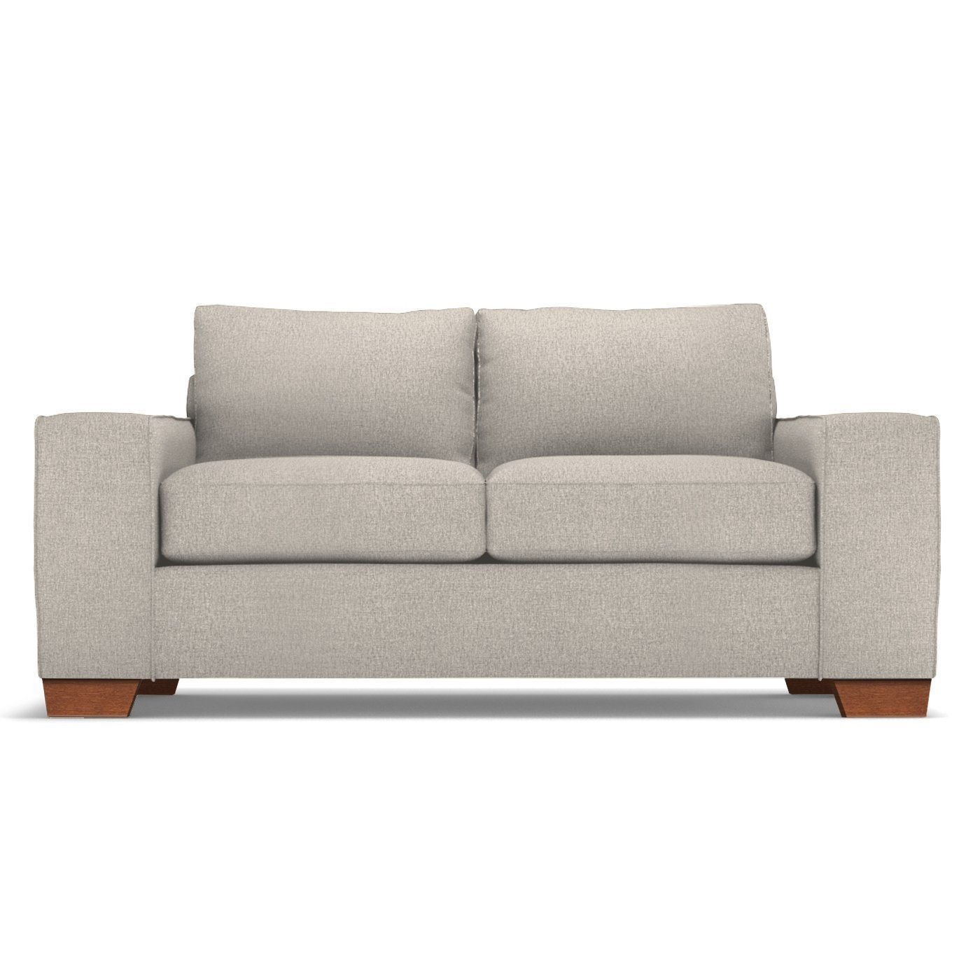 Melrose Apartment Size Sofa Leg Finish Pecan Size Apartment