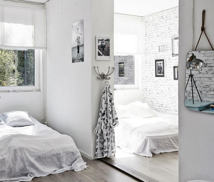 Gravity Interior | A black and white Finnish cabin.