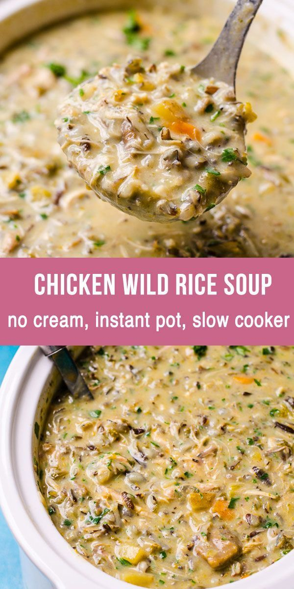 Healthy Chicken Wild Rice Soup (Video) (Stove, IP, Crockpot) – iFOODreal – Healthy Family Recipes