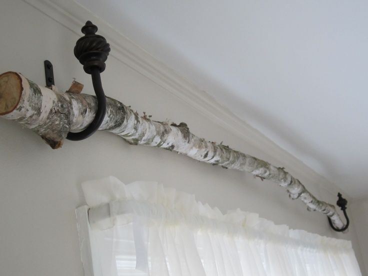Birch Tree Curtains Birch Tree Curtain Rod Hung It Using The Tie Back Curtain Bedr