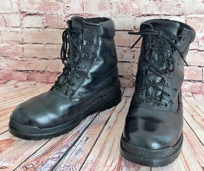 1f18ad71a256 Men s Rocky Boots Size 9.5 Wide Postal Approved Gore Tex High Top Lace Up  Black