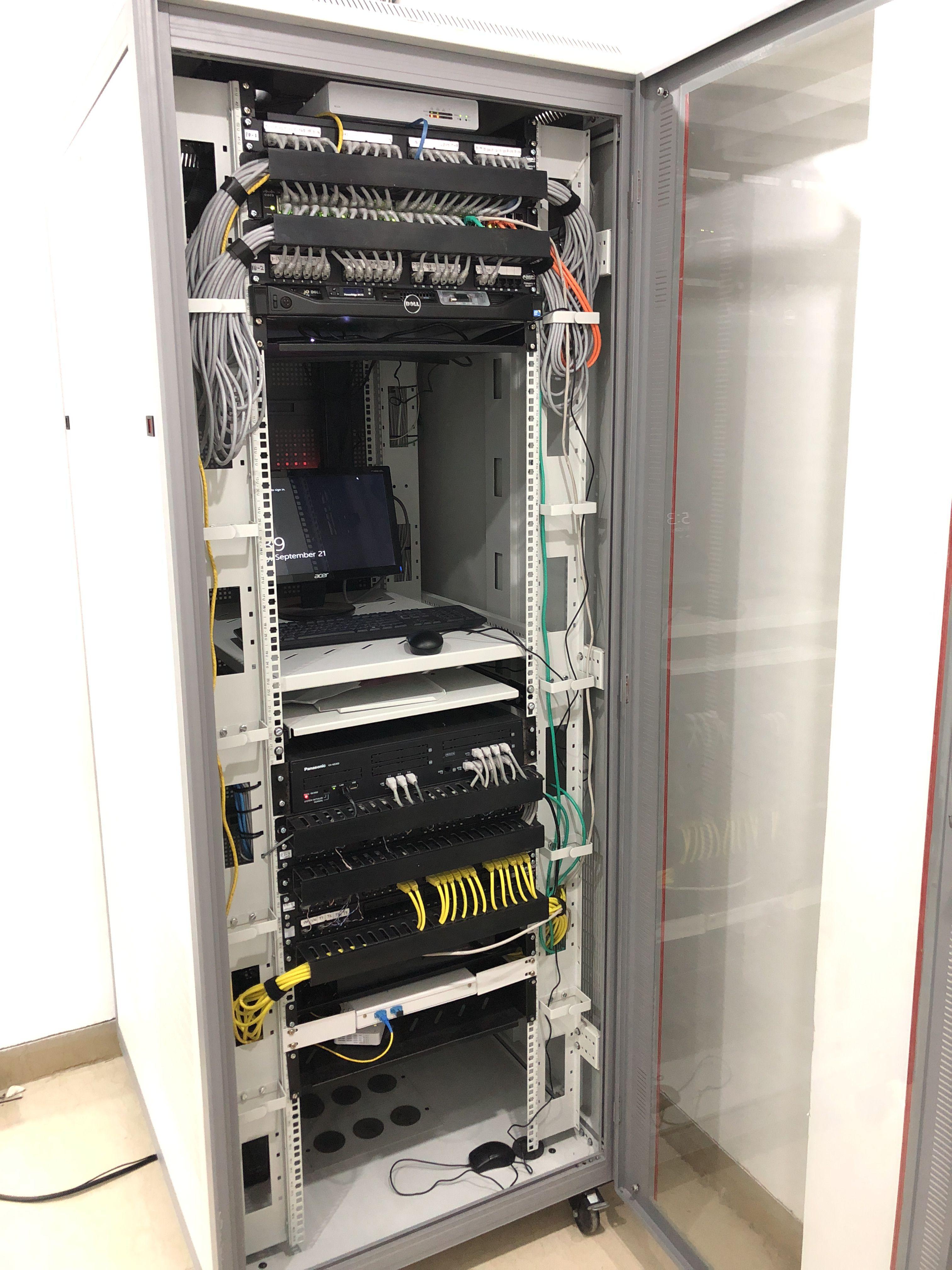 Finished Network Rack   Network Rack   Network rack, Closet ... on