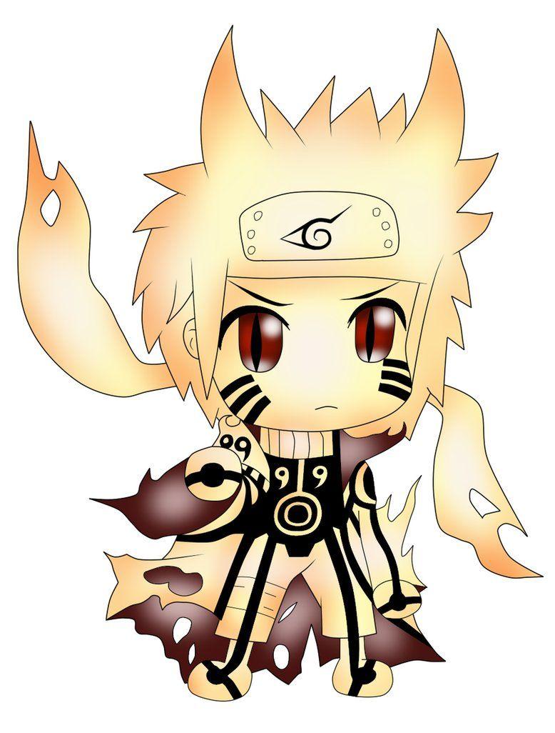 Chibi Naruto In Bijuu Mode Karakter Animasi Manga Anime Chibi