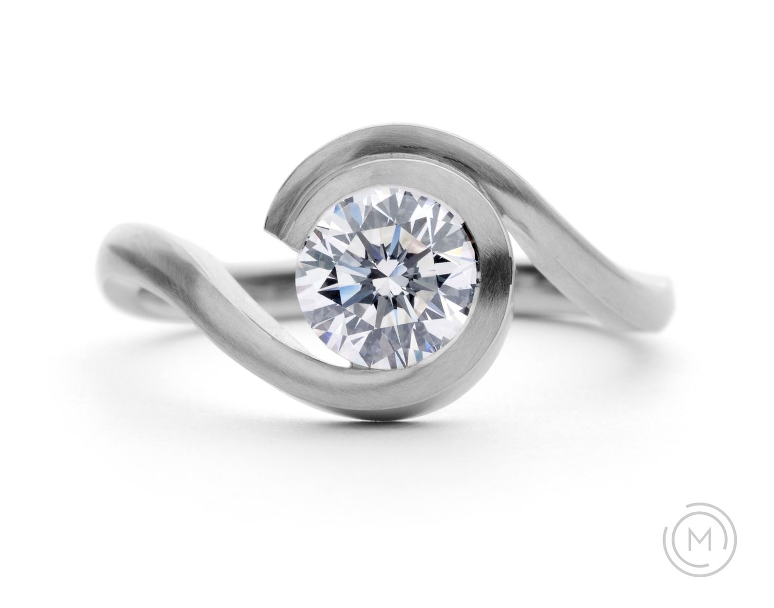 contemporary engagement rings wave - Contemporary Wedding Rings