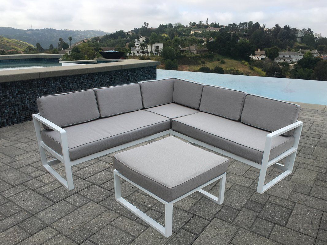 Rausch Gartenmöbel Wrobel 4 Piece Sectional Seating Group With Cushions Outdoors