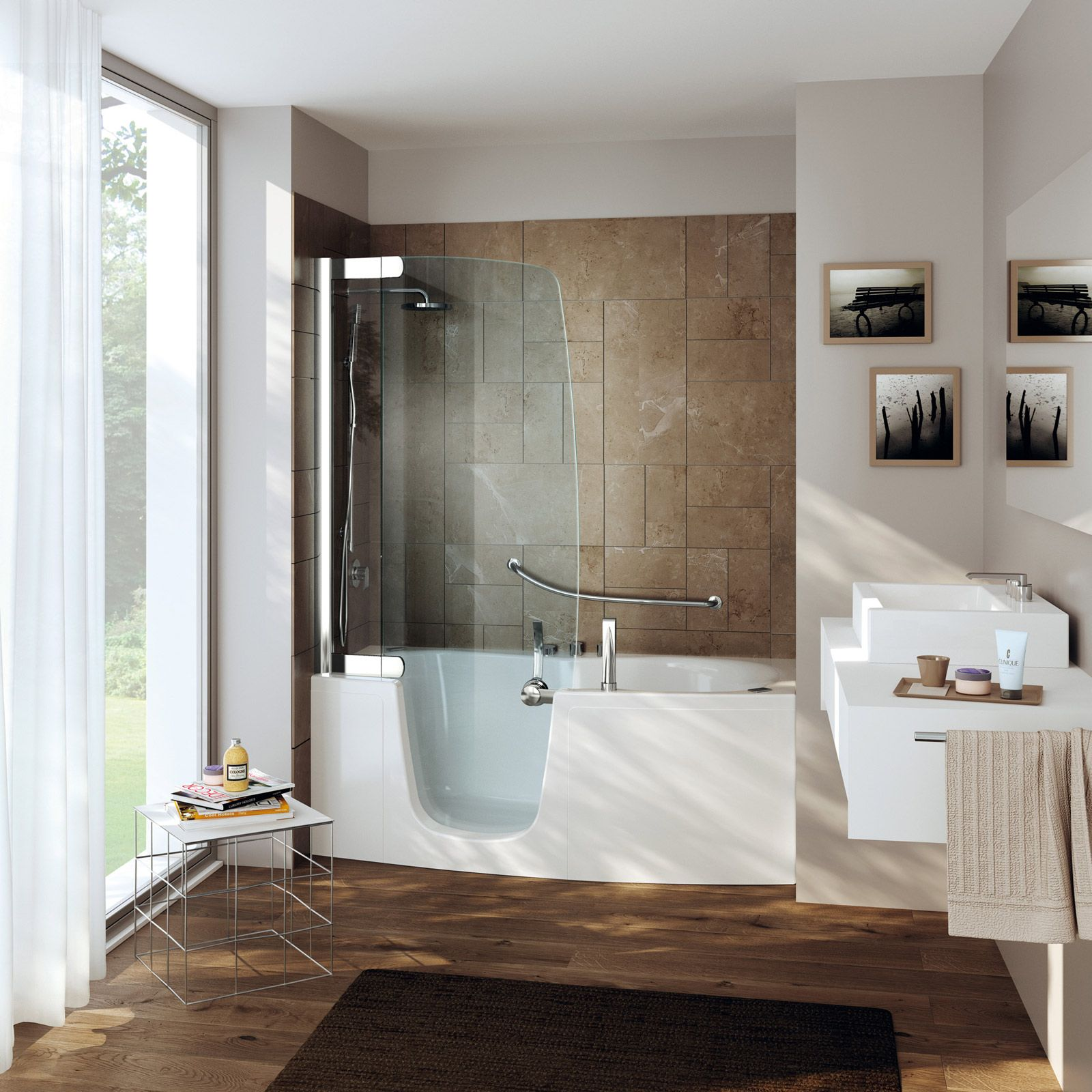 piccola vasca doccia moderna - Cerca con Google  bagni  Pinterest  Tubs, Design bathroom and ...