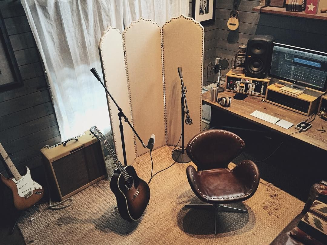 Tracking Acoustic Guitar Today New Songs In The Works Smallvoicerecords Guitar Studio Recording Studio Home Recording Studio