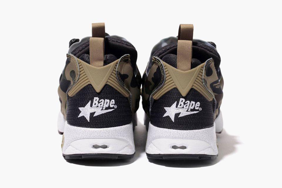"4c8be333791c A Bathing Ape x mita sneakers x Reebok Instapump Fury OG ""Camo ..."