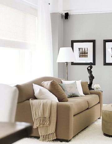 Light And Airy Shades Featured In Country Living Home Living Room Home Brown Living Room