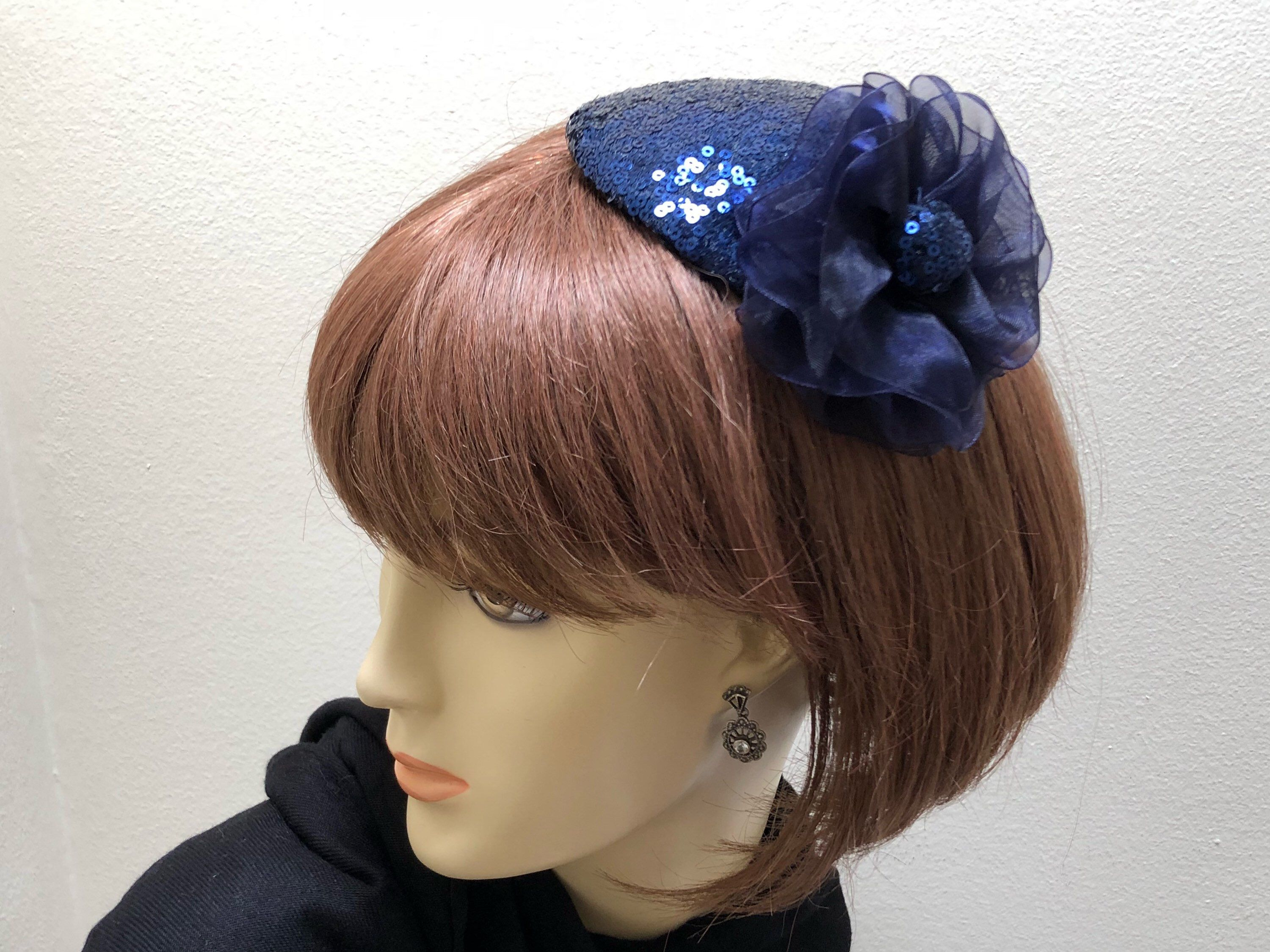4b25c93aff493 Excited to share the latest addition to my  etsy shop  Navy Sequin  Fascinator