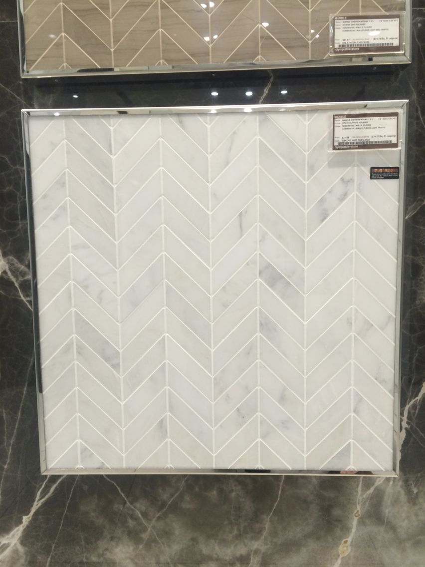 Oriental White Marble Chevron Tile Diy Backsplash Brick Backsplash Kitchen Backsplash
