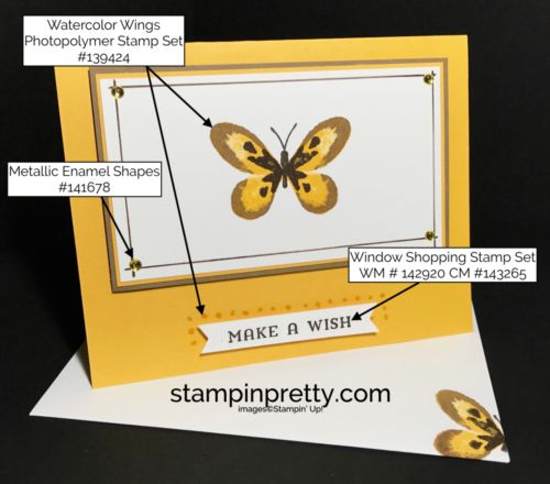 Watercolor Wings butterfly card. Mary Fish, Stampin' Up! Demonstrator. 1000+ StampinUp & SUO card ideas. Read more https://stampinpretty.com/2017/06/simple-pretty-watercolor-wings-butterfly-card.html