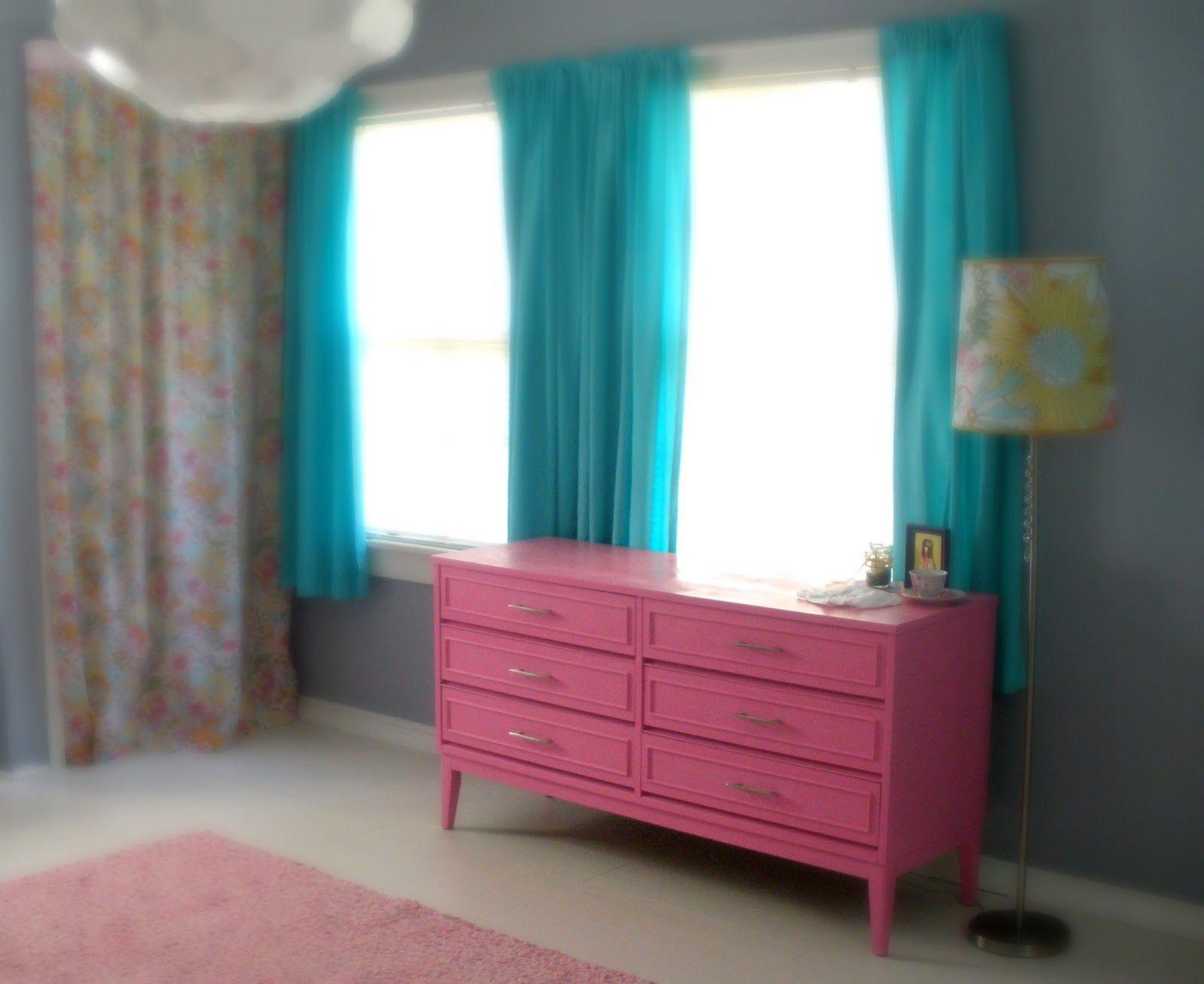 painted pink dresser