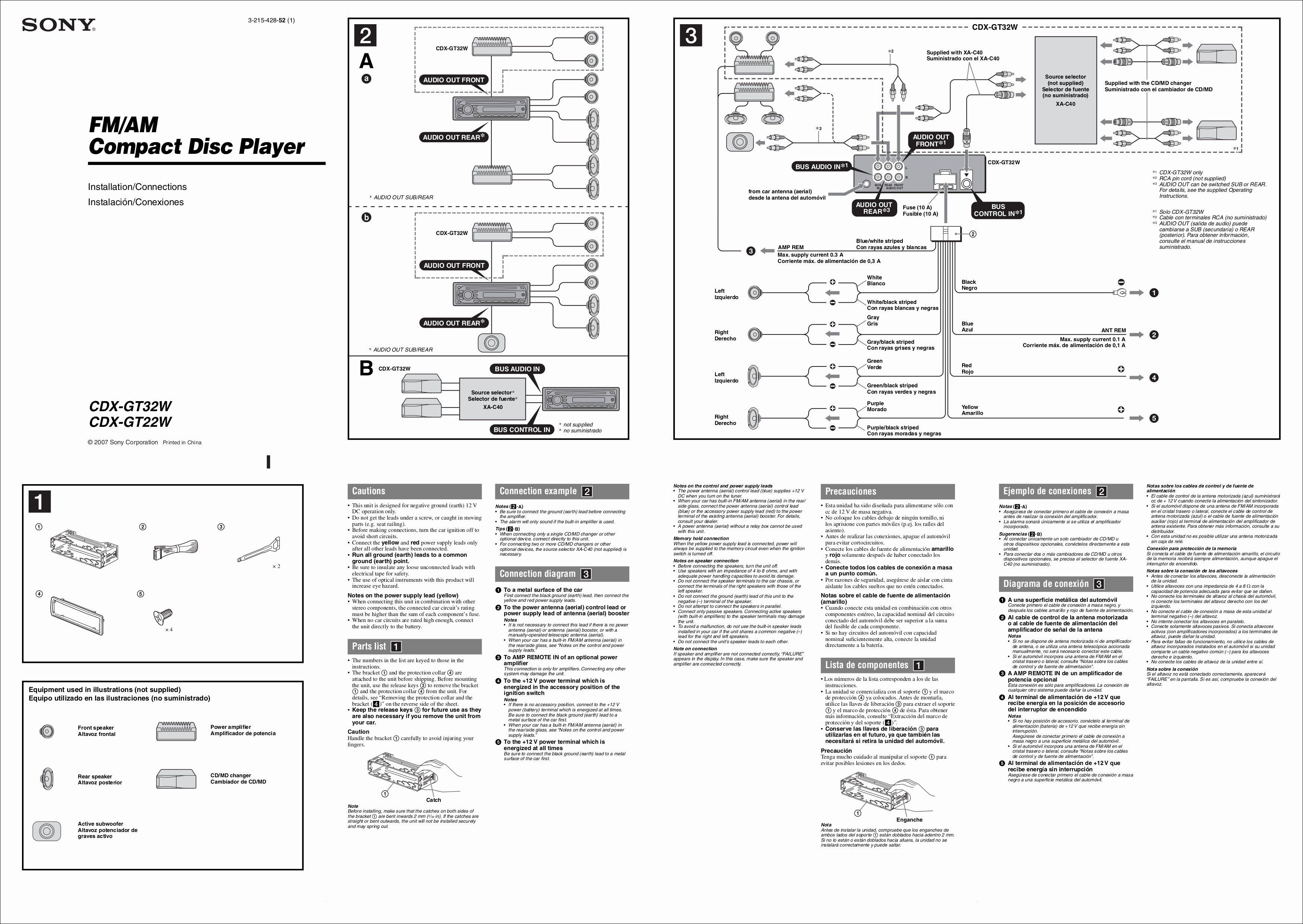 Unique Wiring Diagram Sony Car Stereo Diagram