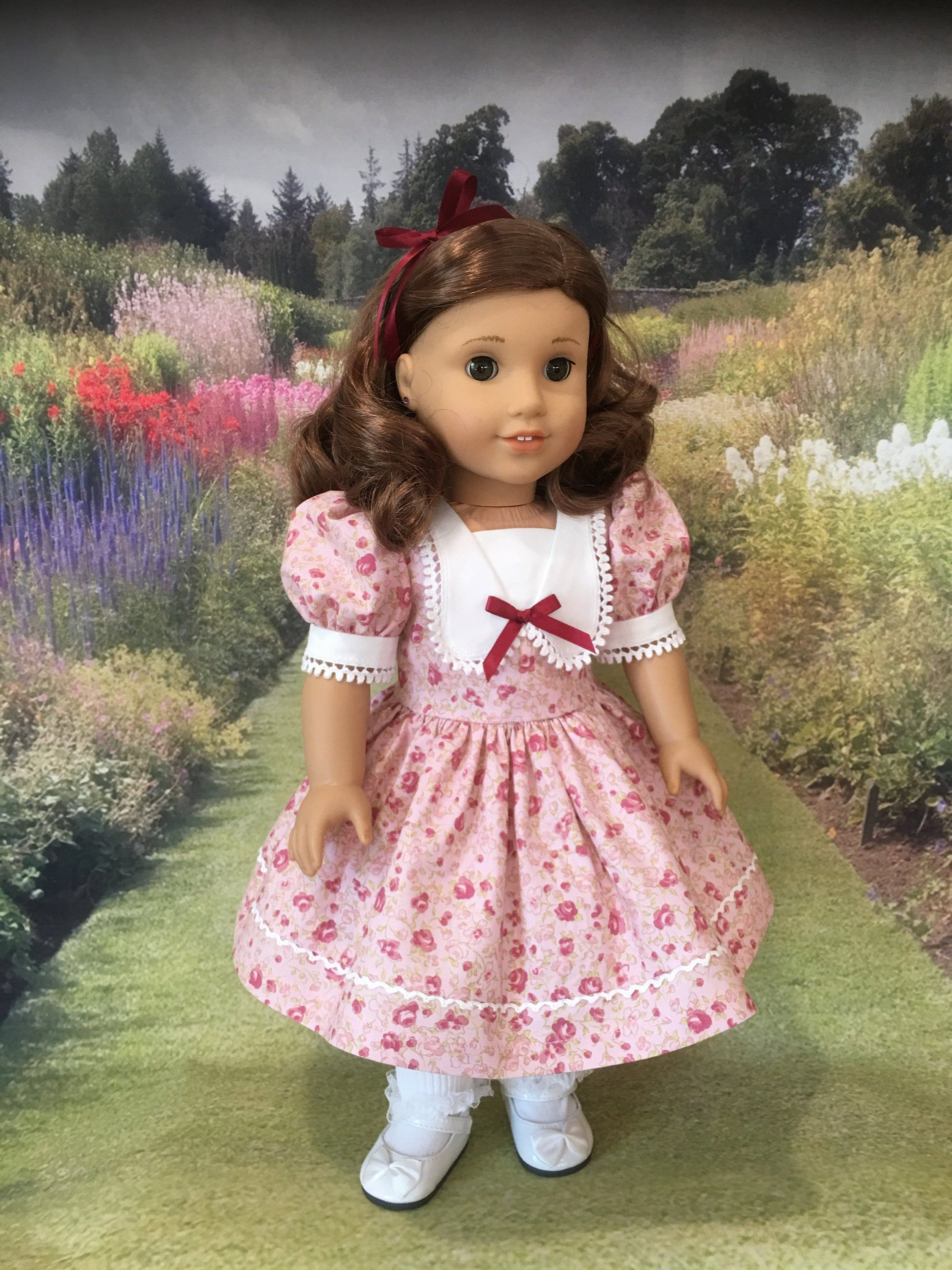 American Girl Doll Kit Floral Print Dress Outfit Mary Jane Shoes ONLY