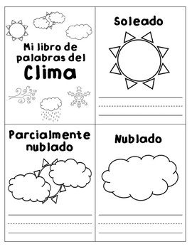 weather unit unidad del clima dual language english spanish science activities dual. Black Bedroom Furniture Sets. Home Design Ideas