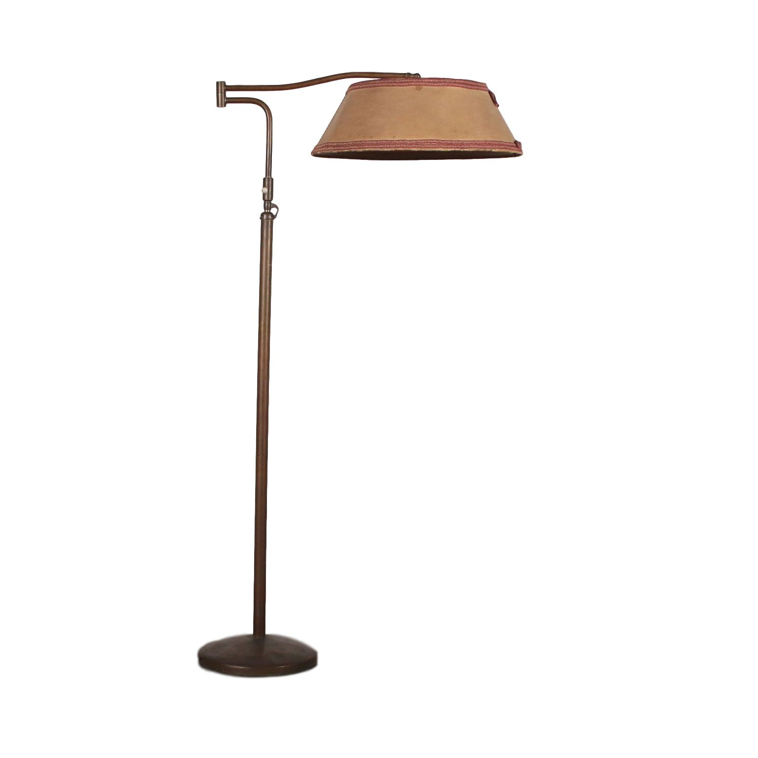Vintage Floor Lamp With Lampshade Vintage Italy 1940s 1950s Metal Floor Lamp Adjustable Height And Lam Lampe Sur Pied Lampadaire Lampadaire Design