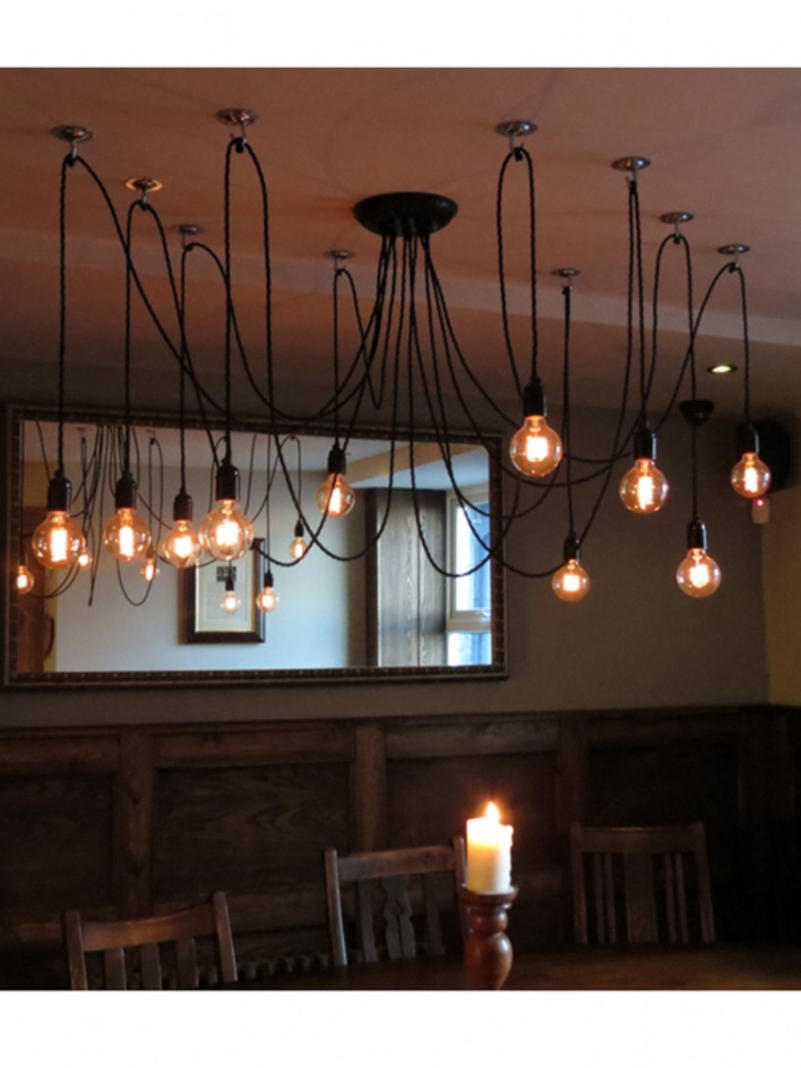 Multi Bulb Hanging Light Fixture