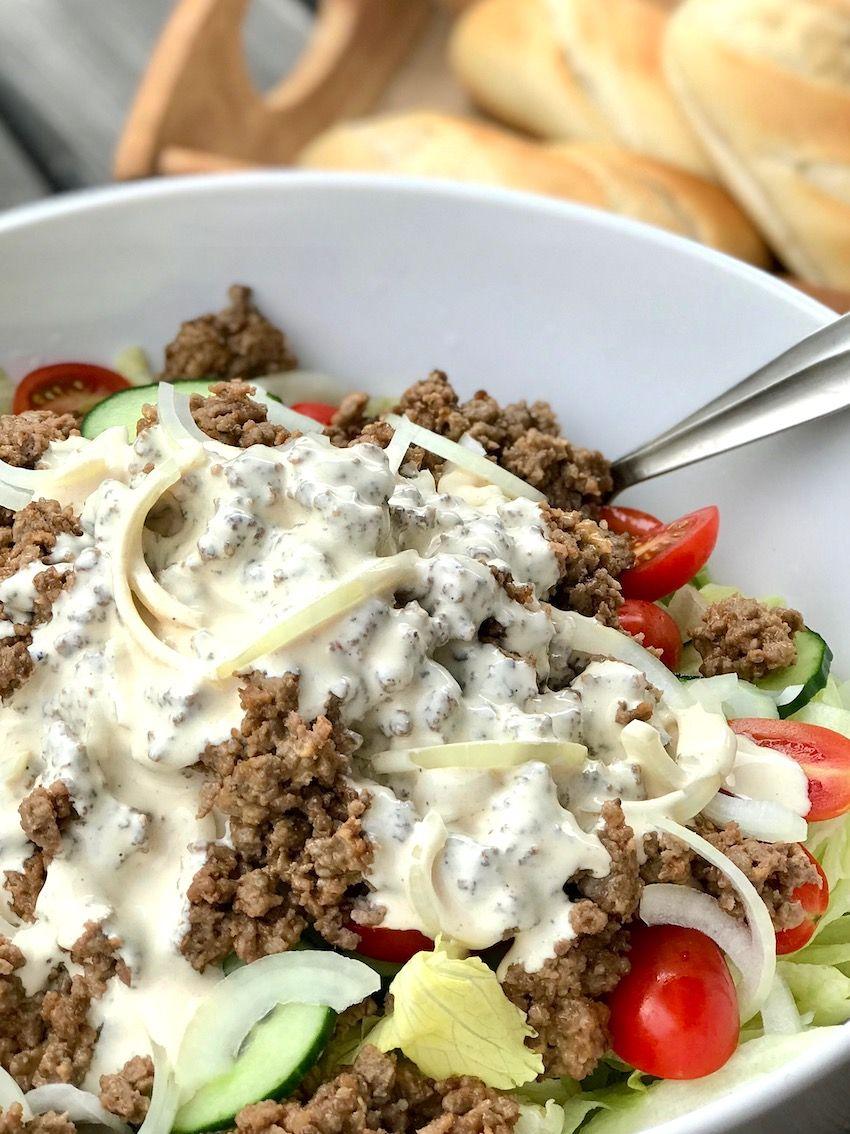 Cheeseburger-Salat #lowcarbveggies