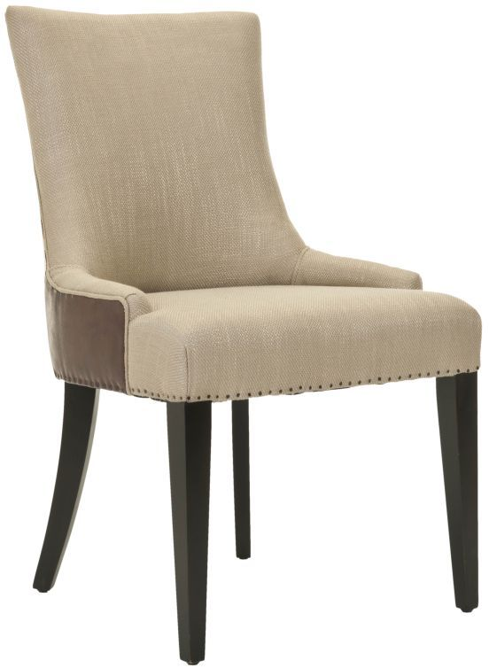 Safavieh Dining Chairs Alexia Fabric And Leather Chair