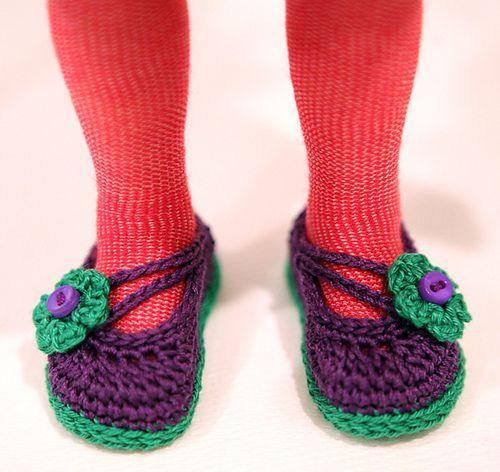 Ravelry: cataddict\'s catwalk in New York - free crochet shoes ...