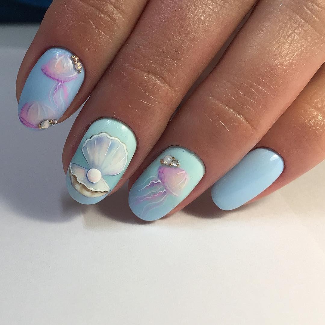 ужас как на море хочется   Море   Pinterest   Manicure, Nail nail ...