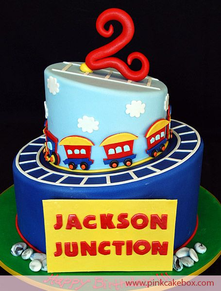 2nd Birthday Jackson Junction Cake Childrens Cakes