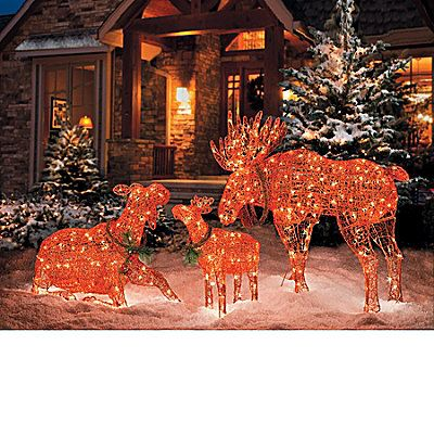 lighted moose christmas decorations improvementscom