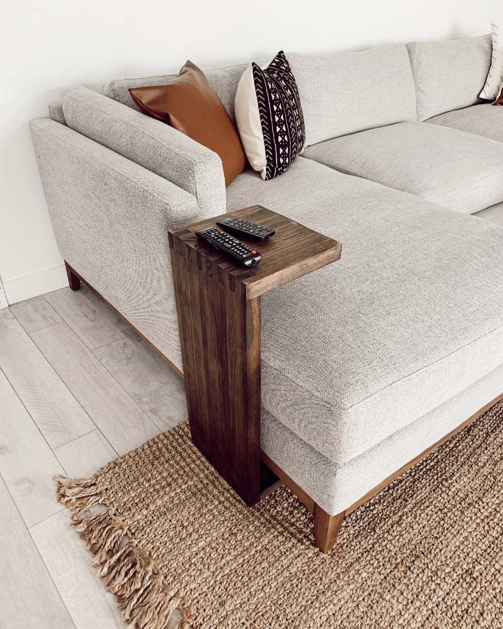 Wood C Table Google Search Couch Table Diy Modern Side Table