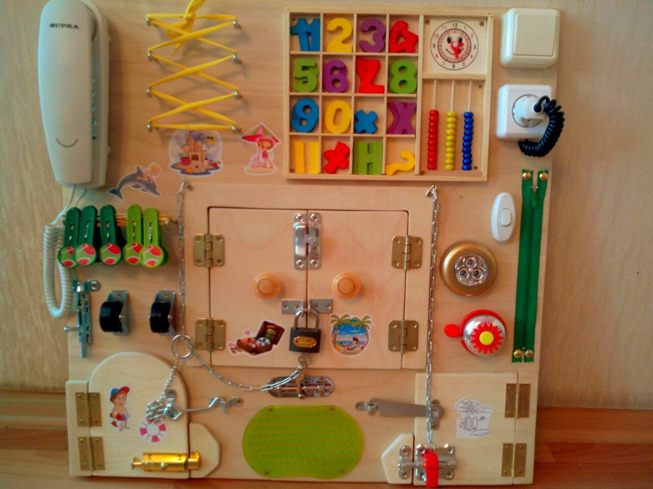 busy board sensory board toddler busy board by. Black Bedroom Furniture Sets. Home Design Ideas