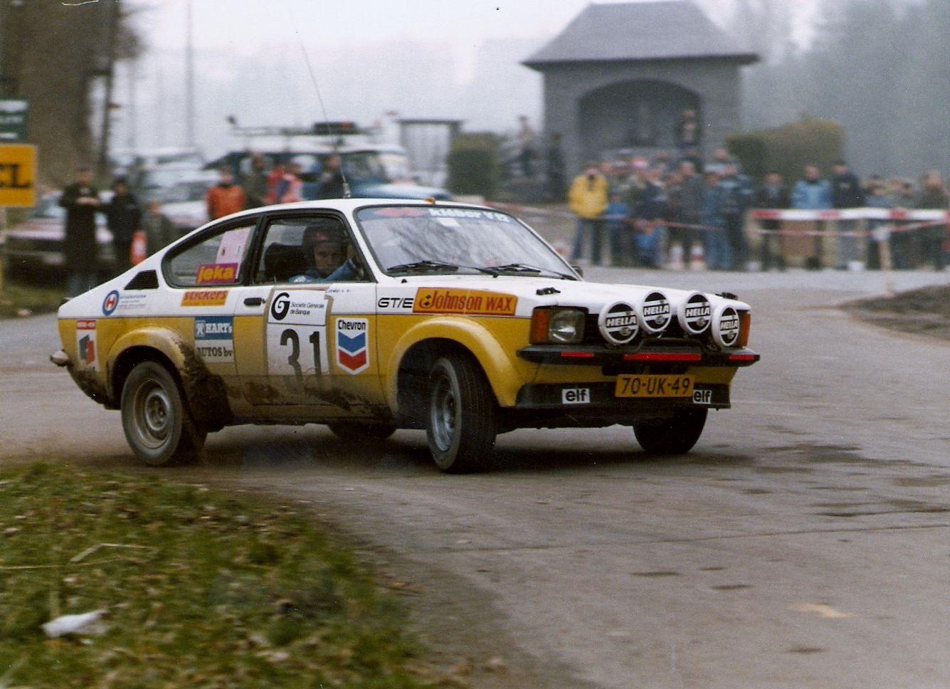 Joop kuipers ernst hoogkamer 1980 opel kadett c gte groep2 rally car olympiasearchvintageracingsport
