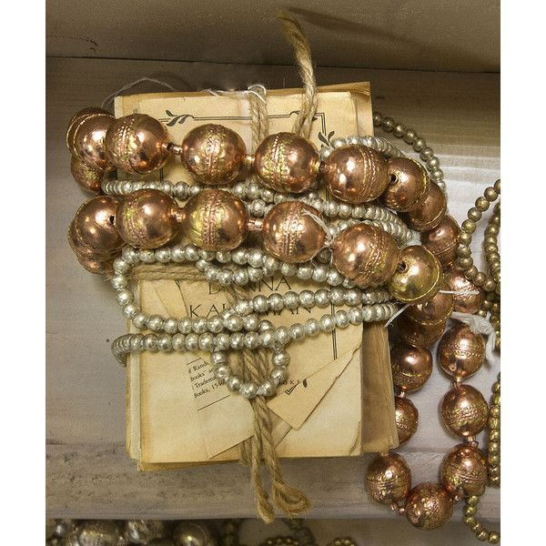 Kissima Drammeh Copper Ball Beads - Large ($115) ❤ liked on Polyvore featuring home, home decor, copper home accessories and copper home decor