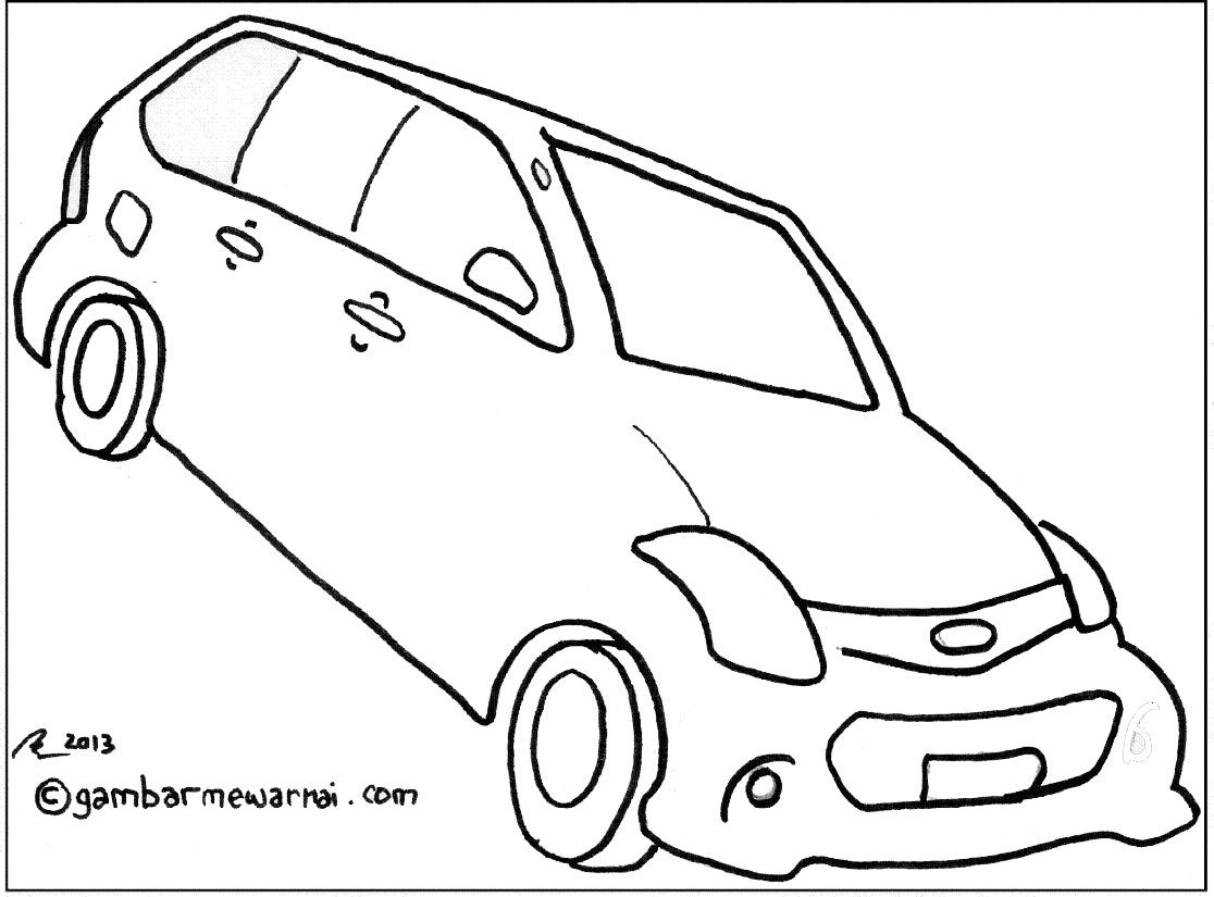 Gambar Mewarnai Mobil