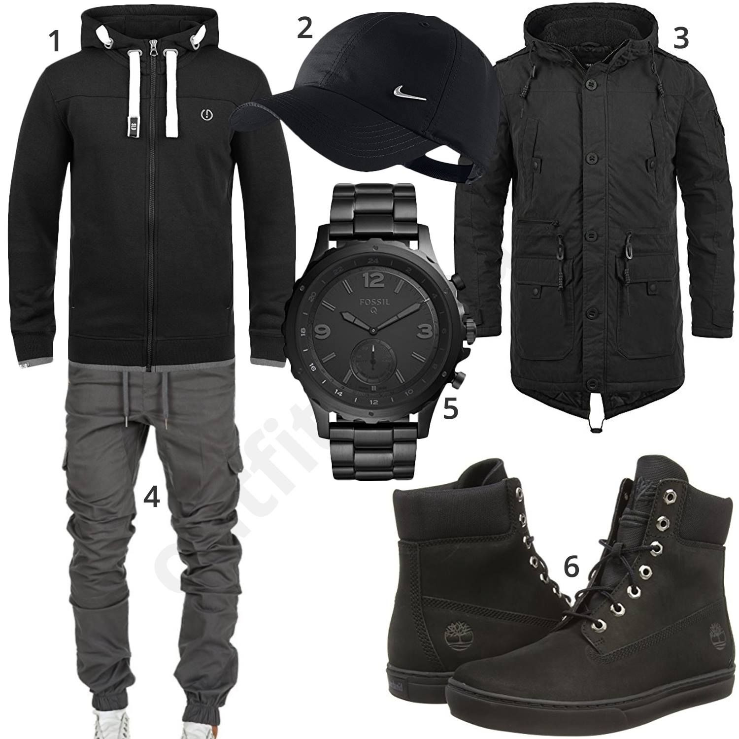 schwarzer street style mit hoodie cap und jogginghose beast clothes and men 39 s fashion. Black Bedroom Furniture Sets. Home Design Ideas