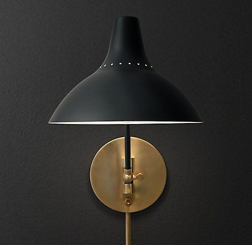 Charlton Sconce In Black From Restoration Hardware