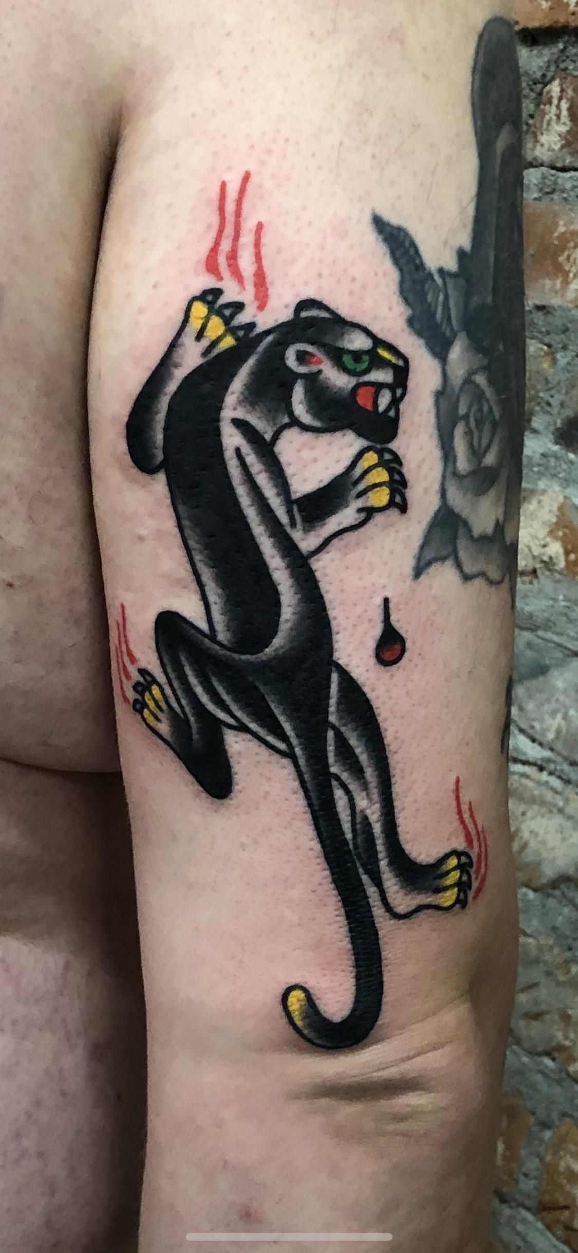 Got this heater done by phil at st marks tattoo in los