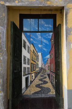 Funchal door, Madeira island