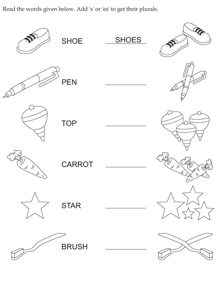 Make Plural Download Free Make Plural for kids – Plural Worksheets for Kindergarten