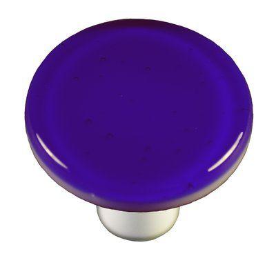 """AquilaArtGlass Solids 1 1/2"""" Diameter Mushroom Knob   Wayfair"""