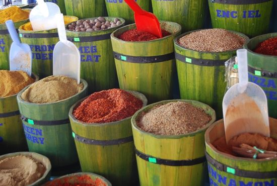 Spices sold in a Turkish market