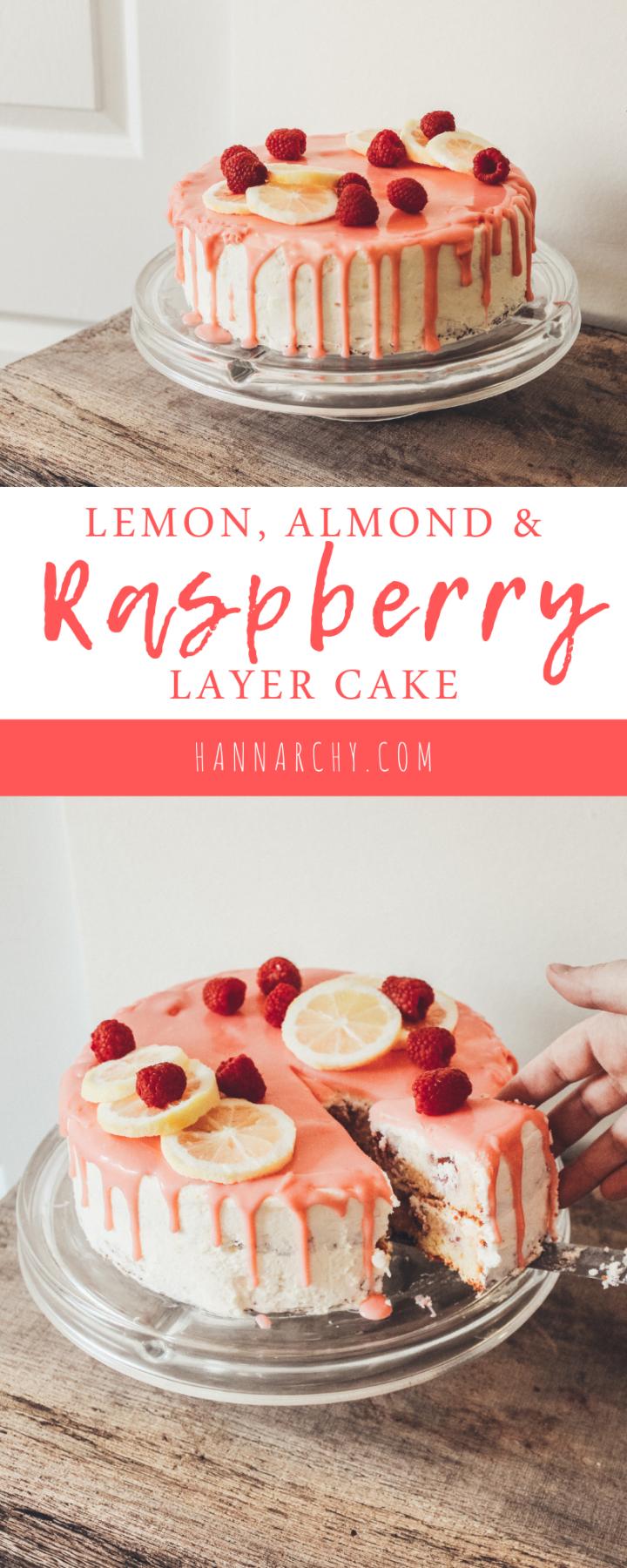 Strange Lemon Almond And Raspberry Layer Cake Chocolate Raspberry Cake Personalised Birthday Cards Arneslily Jamesorg