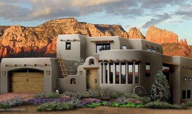 southwest style pueblo desert adobe home cob earthbag ston house plans 38967 - South West Adobe Home Plans