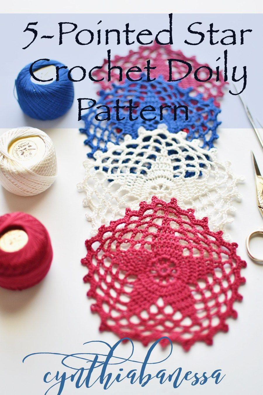 Five Pointed Star Doily Pattern Star Patterns And Crochet