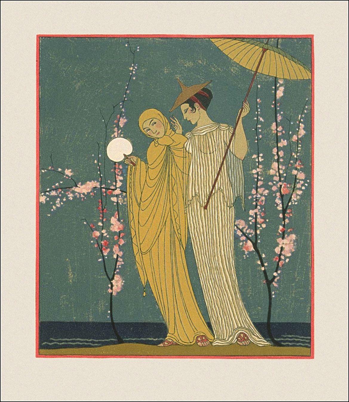 George Barbier Les Chansons De Bilitis Art Deco Illustration Art Art Deco Posters