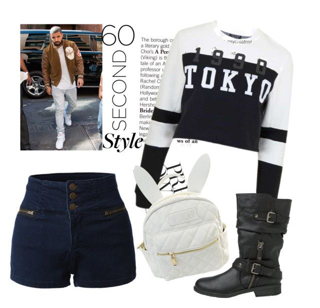 """""""60-second Style: Drake's Views"""" by pinkymonster ❤ liked on Polyvore featuring Drakes London, LE3NO, Topshop, Report, cutekawaii, sixtysecondstyle and polyvoresetsbyalli"""