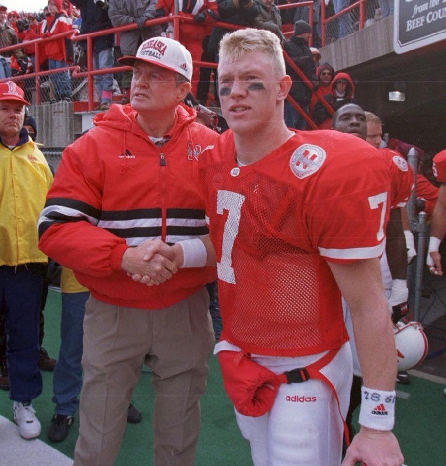 Coach Osborn And Scott Frost Nebraska Cornhuskers Football