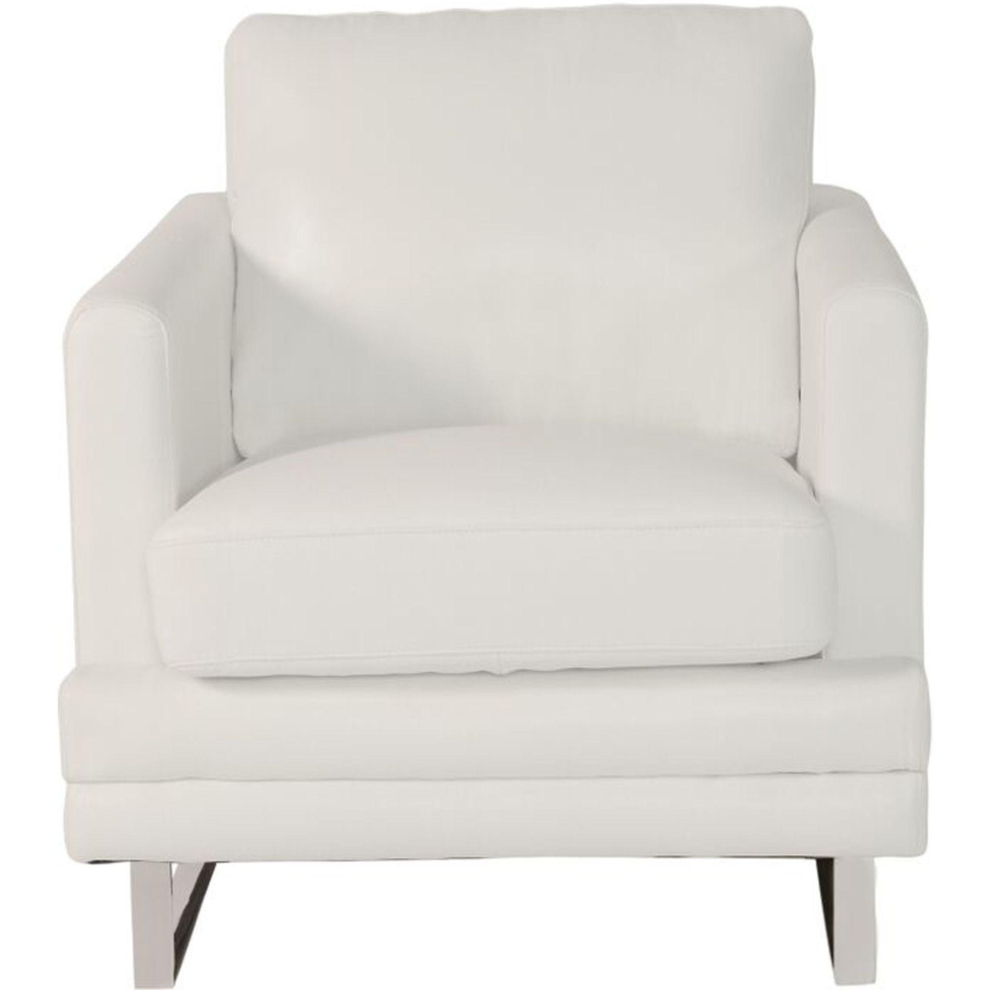 Accent Chairs Melbourne Melbourne Chair In White Lazzaro Leather Home Gallery