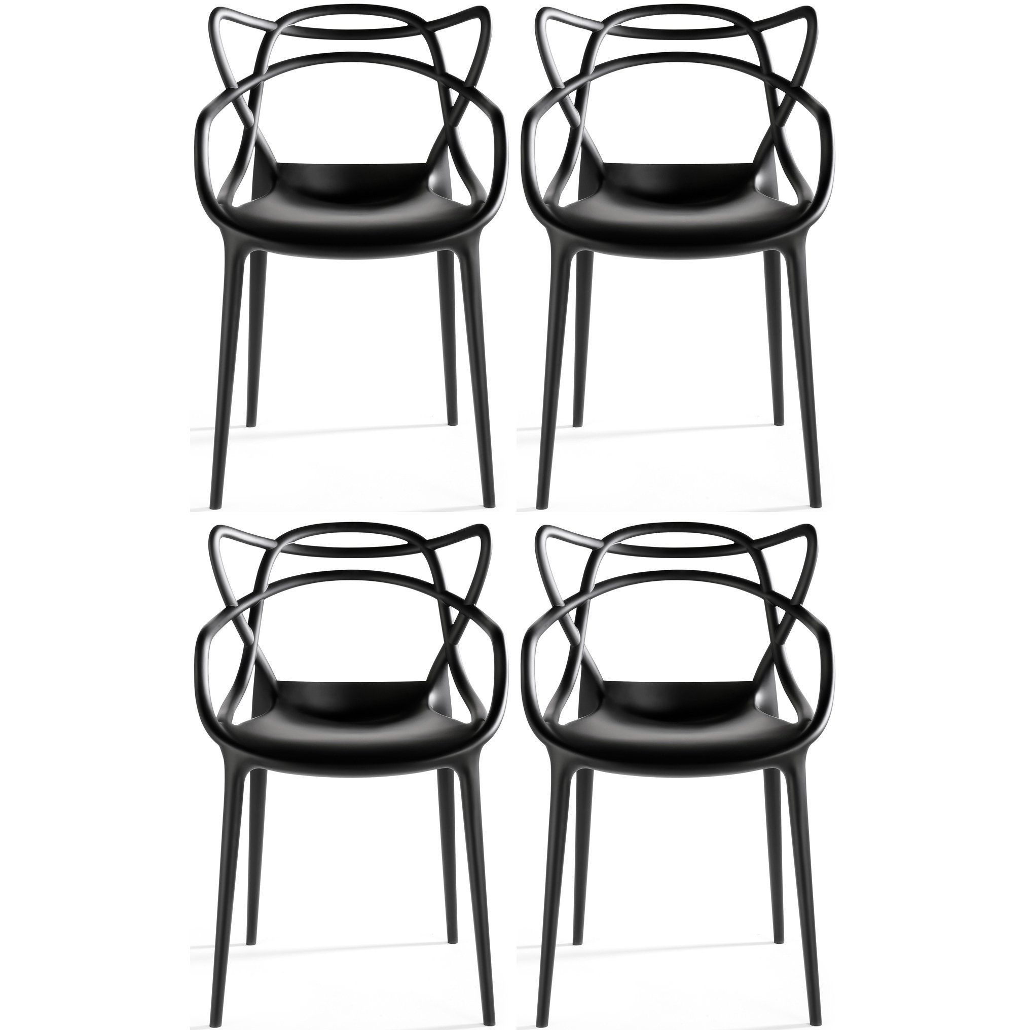 Xhome set of black dining room chairs modern contemporary