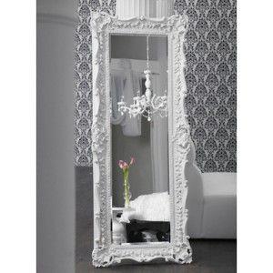 ruffle edge floor mirror - high gloss white. For my hollywood ...