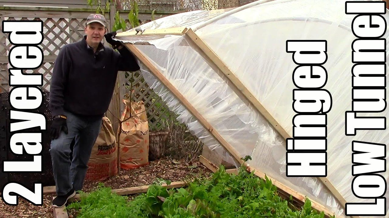 ez winter gardening with 2 layered hinged low tunnel garden